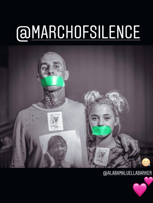 Drummer Travis Barker and Daughter Alabama Will Support March of Silence for Animal Rights