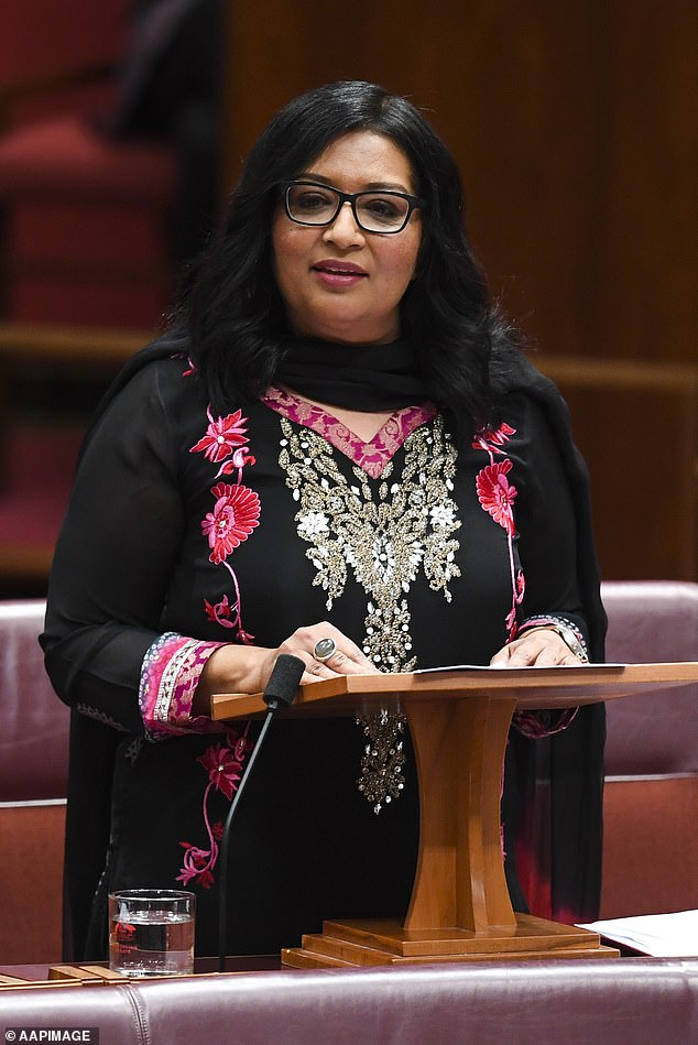 Australia's first Muslim senator calls for an end to 'traditional' halal slaughter where livestock are conscious when killed