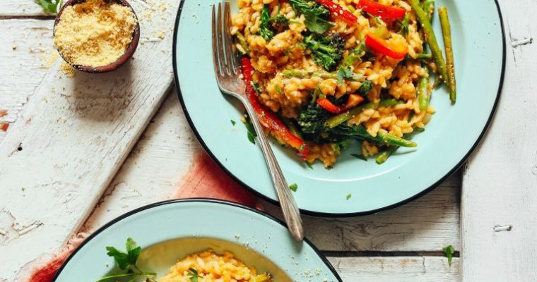 Creamy Vegetable Risotto (30 Minutes!)