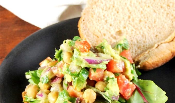 Chickpea Avocado Salad for sandwiches and wraps
