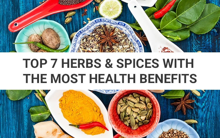 7 Herbs & Spices With The Most Powerful Health Benefits