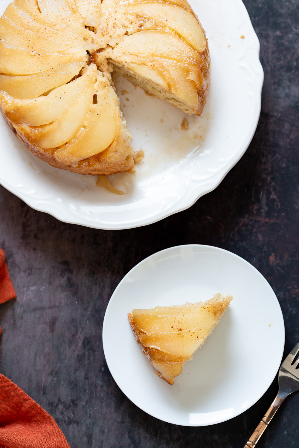 Vegan Pear Upside Down Cake