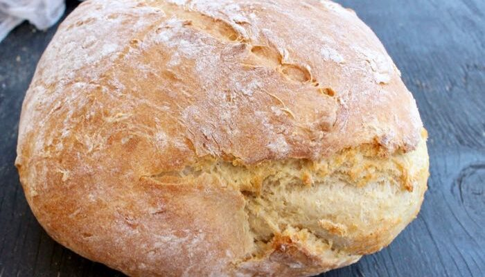 Easy Crusty Vegan Bread